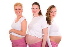 размер живота у полных беременных и у худых