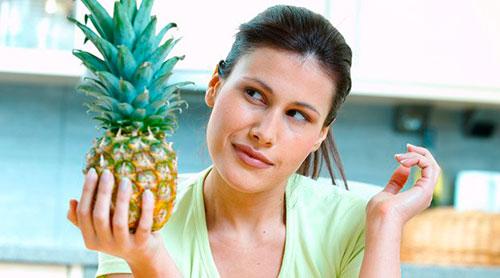 почему худеют с ананасами