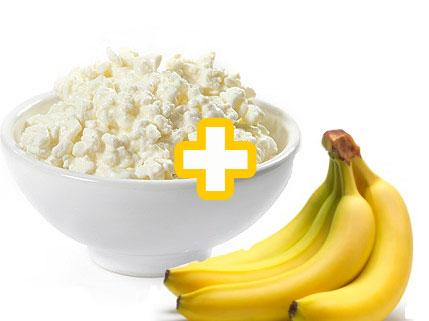 Банан и творог