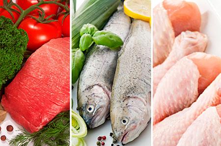 Разрешенные белково овощные продукты