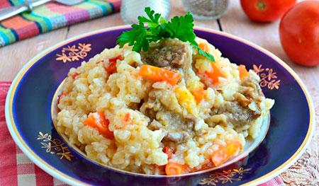 Каша из риса с овощами для диеты буч