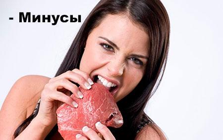 минусы белковой диеты
