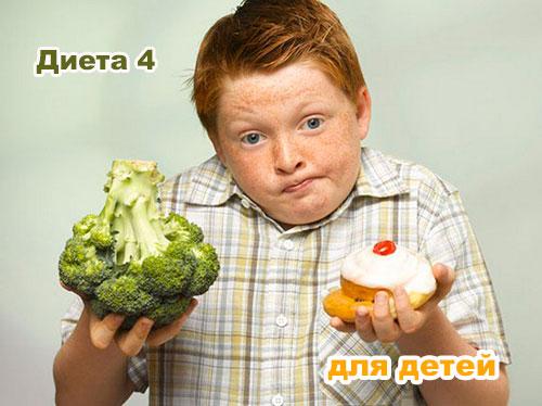 диета 4 для детей