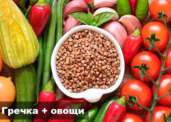 Диета гречка с овощами
