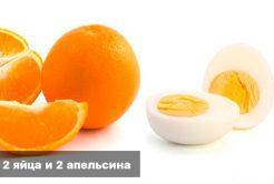 Два яйца и два апельсина